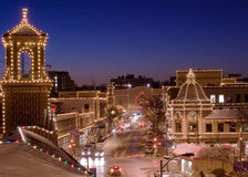 miasto Kansas zaświeca plac Obrazy Royalty Free