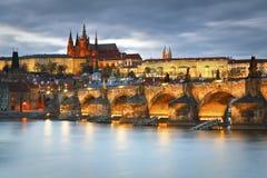 Miasto kasztel, Praga Zdjęcia Royalty Free