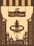 Miasto kawiarnia ilustracji