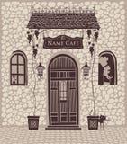 Miasto kawiarnia royalty ilustracja