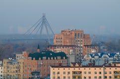Miasto kijowski widok Zdjęcie Royalty Free