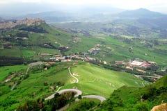miasto klasyczny Enna Italy Sicily obrazy royalty free