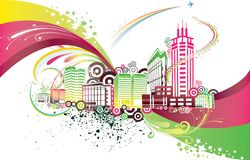 miasto kolorowy Zdjęcie Stock