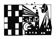 Miasto komunikacje royalty ilustracja