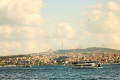Miasto krajobraz, morze, niebo Istanbuł, Turcja Obrazy Stock