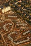 Miasto krajobraz od samolotu obrazy royalty free