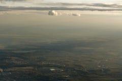 Miasto krajobraz od samolotu Zdjęcia Royalty Free