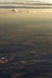 Miasto krajobraz od samolotu zdjęcie stock