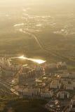 Miasto krajobraz od samolotu Zdjęcie Royalty Free