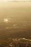 Miasto krajobraz od samolotu Obraz Royalty Free