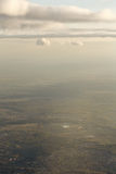 Miasto krajobraz od samolotu obrazy stock
