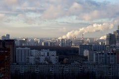 Miasto krajobraz - południowy zachód Moskwa. Rosja Obraz Royalty Free