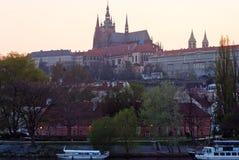 Miasto krajobraz, Vltava Praga Czechia obrazy stock