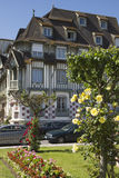 Miasto krajobraz w Normandy Zdjęcie Stock