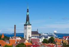 Miasto krajobraz w Tallinn Zdjęcia Royalty Free
