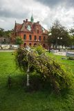 Miasto krajobraz w Zelenogradsk, Kaliningrad region, Rosja Zdjęcie Stock
