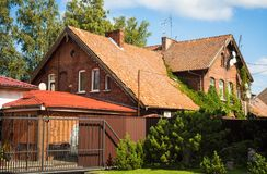 Miasto krajobraz w Zelenogradsk, Kaliningrad region, Rosja Obraz Royalty Free