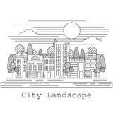 Miasto krajobrazowa wektorowa ilustracja Zdjęcia Stock