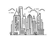 Miasto krajobrazu wzór Fotografia Stock