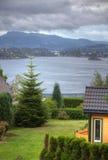 Miasto krajobrazy Bergen obraz royalty free