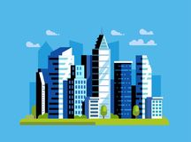 Miasto kształtuje teren wektor Obraz Stock