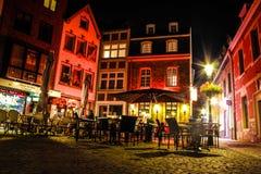 Miasto kwadrat przy nocą Zdjęcia Stock