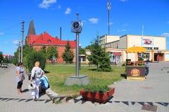 Miasto kwadrat w mieście Bagrationovsk Zdjęcia Stock
