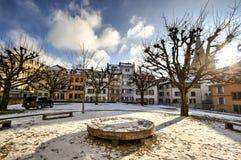 Miasto LAUSANNE, Szwajcaria Zdjęcia Stock