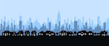 miasto linia horyzontu royalty ilustracja