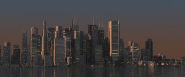 Miasto linia horyzontu Obraz Royalty Free