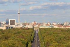 Miasto linia horyzontu, Berlin, Niemcy Zdjęcia Stock