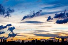 Miasto linia horyzontu sylwetkowa Zdjęcie Stock