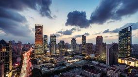 Miasto linia horyzontu, Szanghaj obrazy stock