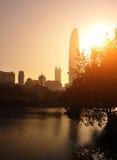 Miasto linia horyzontu w Shenzhen mieście fotografia stock