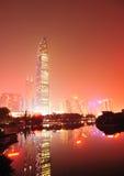 Miasto linia horyzontu w Shenzhen mieście obrazy royalty free