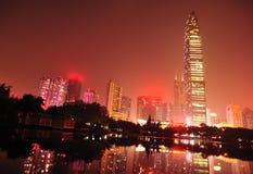 Miasto linia horyzontu w Shenzhen mieście fotografia royalty free