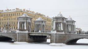 Miasto linia horyzontu w zimie Obrazy Stock