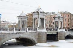 Miasto linia horyzontu w zimie Fotografia Royalty Free