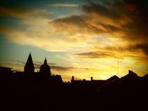 Miasto linii horyzontu widok Fotografia Stock