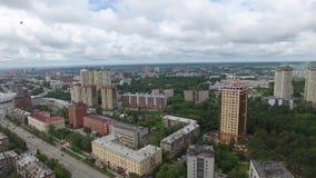 Miasto linii horyzontu widok z lotu ptaka zbiory