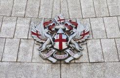 Miasto Londyński grzebień przy ratuszem zdjęcia royalty free