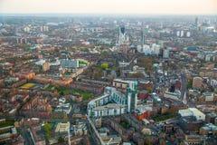 Miasto Londyńska panorama przy zmierzchem, Obrazy Royalty Free