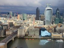 Miasto Londyn - linia horyzontu Zdjęcie Stock