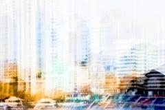 Miasto Londyn przy zmierzchem Wieloskładnikowego ujawnienia wizerunek zawiera miasto Londyński pieniężny aria london wielkiej bry Fotografia Stock