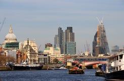 Miasto Londyńska budowa Fotografia Royalty Free