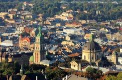 Miasto Lvov, odgórny widok obraz royalty free