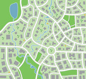 miasto mapa Obrazy Royalty Free