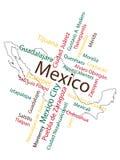 miasto mapa Mexico Obrazy Stock