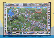 Miasto mapa otoczenia los angeles Fortuna w losie angeles Fortuna, costa rica Obrazy Stock