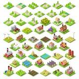 Miasto mapa Ustawia 03 płytki Isometric Obrazy Royalty Free